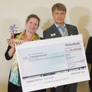 20.05.2015, Berlin. Verleihung des Werner-Bonhoff-Preises 2015 in der Landesvertretung Hamburg. PreistrŠgerin 2015 ist Sabine Schmuck.